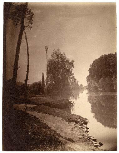 Bras de Seine à Vaux 12 juin 1887, plein soleil, 10h