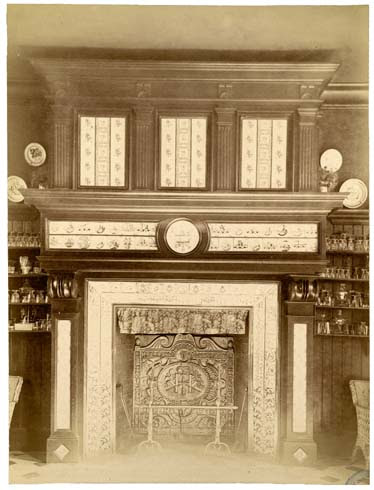 Château de Beauregard cheminée de la salle à manger, 27 sept. 1891