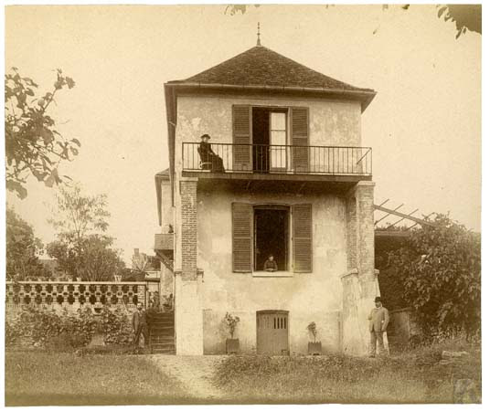 Château de Beauregard façade latérale, 22 juillet 1891.