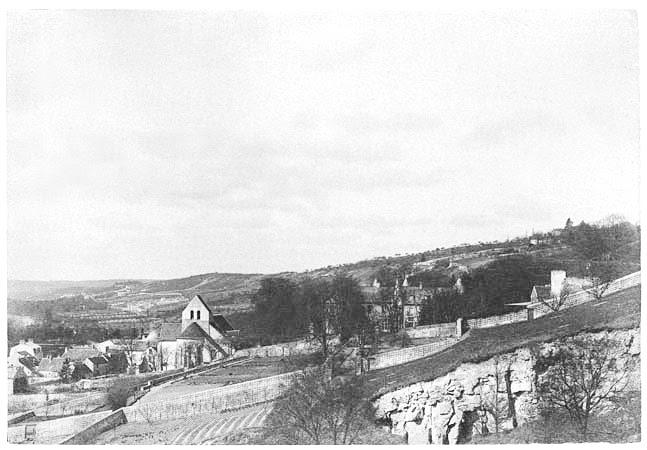 Eglise et château de Vaux, 5 avril 1888