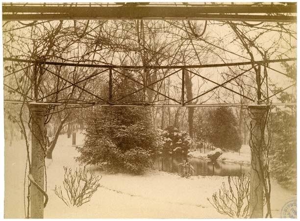 Parc du château de Beauregard, 16 février 1892 , effet de neige V2