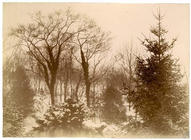 Parc du château de Beauregard, 16 février 1892 , effet de neige