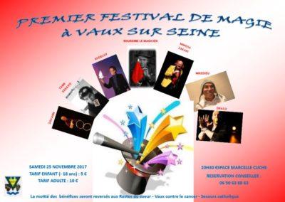 Premier festival de Magie de Vaux-sur-Seine, 25 Novembre 2017