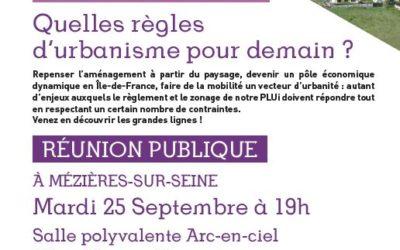 CONCERTATION DANS LE CADRE DE L'ELABORATION DU PLAN LOCAL D'URBANISME INTERCOMMUNAL : DERNIERE REUNION PUBLIQUE