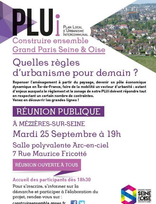 CONCERTATION DANS LE CADRE DE L'ELABORATION DU PLAN LOCAL D'URBANISME INTERCOMMUNAL : PROCHAINE REUNION PUBLIQUE