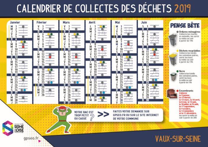 Calendrier Encombrants 77.Collecte Des Dechets Vaux Sur Seine