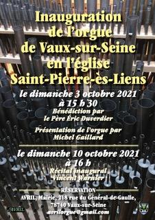 Inauguration de l'orgue – dimanche 3 octobre 2021
