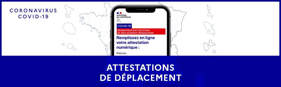 Attestation de déplacement obligatoire durant le confinement