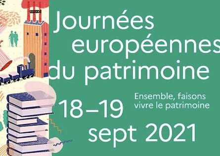 Journées européennes du patrimoine  – dimanche 19 septembre 2021